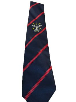 26 AES Embroidered Tie